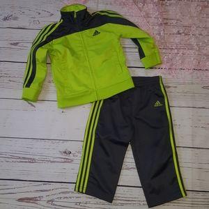 Boys Adidas zip up matching set 24m
